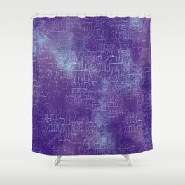Abstract Grunge Art in Violet Purple and Blue Shower Curtain