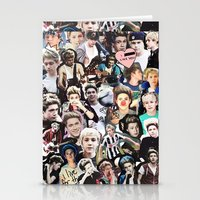 niall horan Stationery Cards featuring Niall Horan - Collage by Pepe the frog