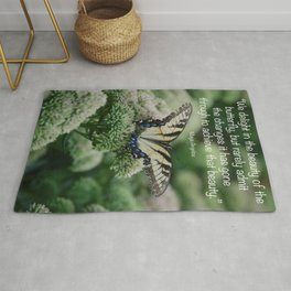 We delight in the beauty of the butterfly.... Rug