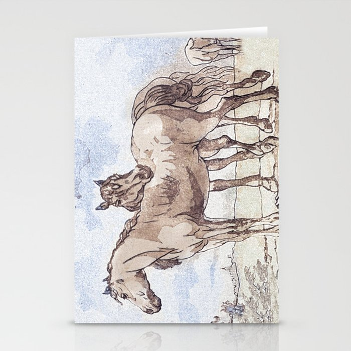 Companions - horse love Stationery Cards