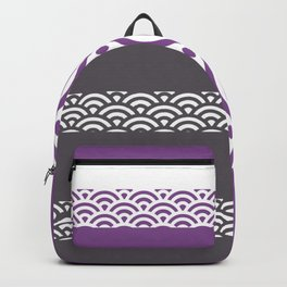 Rainbow Trim Ultraviolet Backpack