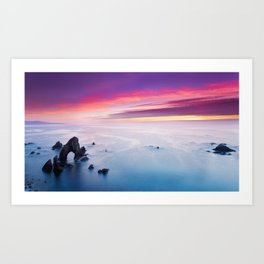 Pink sunset sky | Donegal Arch Art Print
