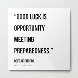 34   | Deepak Chopra Quotes | 191006 Metal Print