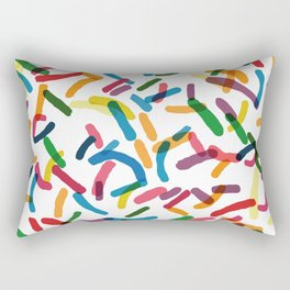 Rainbow Sprinkles Rectangular Pillow