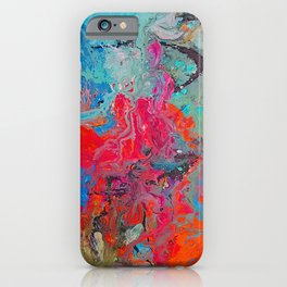 Heaven Rejoices Multi Colored Abstract Luke 15:7 iPhone Case