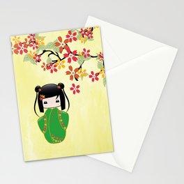 Sakura Kokeshi Doll Stationery Cards