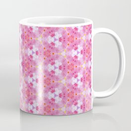 Abstract Pink Floral Pattern Coffee Mug