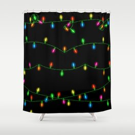 Christmas lights collection Shower Curtain