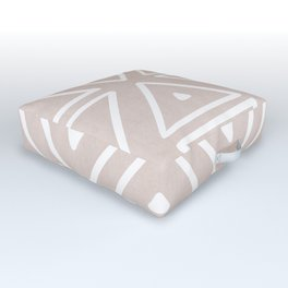 Big Triangles in Tan Outdoor Floor Cushion