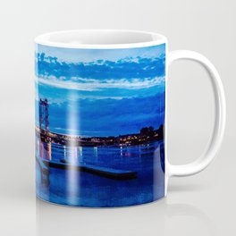 Night Bridge Lights Coffee Mug