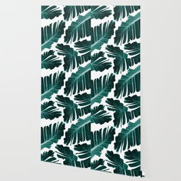 Tropical Banana Leaves Dream #1 #foliage #decor #art #society6 Wallpaper