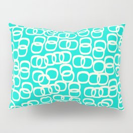 Black Tie Collection Links Teal Colorway Pillow Sham