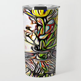 Shadow Flowers Travel Mug