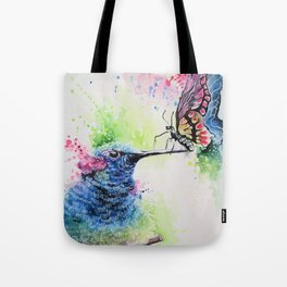 Hummingbird and Butterfly Tote Bag