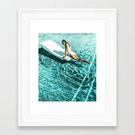Pool Day #society6 #painting #summer Framed Art Print