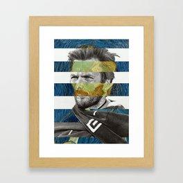 Van Gogh's Self Portrait & Clint Eastwood Framed Art Print