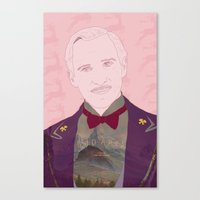 budapest hotel Canvas Prints featuring The Grand Budapest Hotel II by Itxaso Beistegui Illustrations