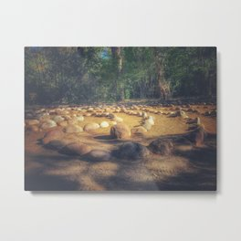 Circle in nature Metal Print
