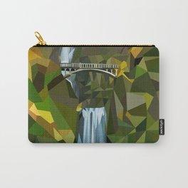 Geometric Multnomah Falls  Carry-All Pouch