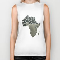 african Biker Tanks featuring African Continent by ArtSchool