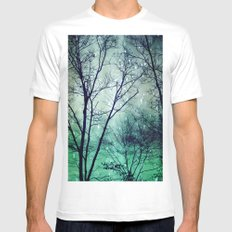 Wintergreen Twilight MEDIUM Mens Fitted Tee White