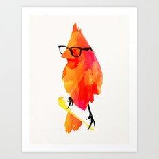 Punk bird Art Print