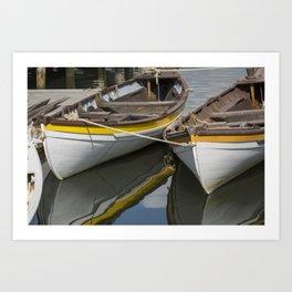 Mystic Sea Port - Row Boat Art Print