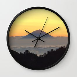 Island in the clouds 2 Wall Clock