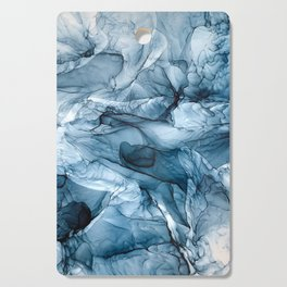 Churning Blue Ocean Waves Abstract Painting Cutting Board