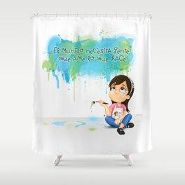 Gente que ame lo que hace Shower Curtain