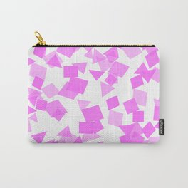 Festive Pink Confetti Carry-All Pouch