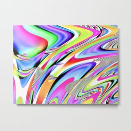 Party Colors Abstract Digtial Art By Annie Zeno  Metal Print