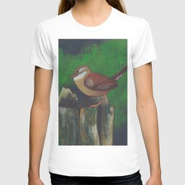 bird on a log T-shirt