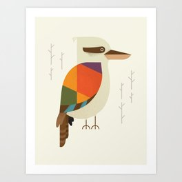Laughing Kookaburra Art Print