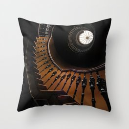 Pretty brown spiral staircase Throw Pillow