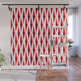 Red, Black and White | Pop | Bright and Cheery | Texture Wall Mural