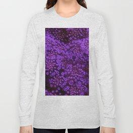 Purple Queen Anne's Lace Landscape Long Sleeve T-shirt