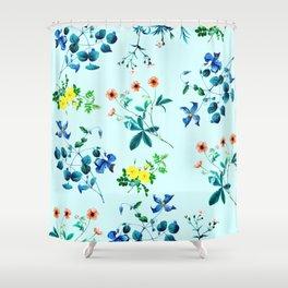 Spring fling III - mint Shower Curtain