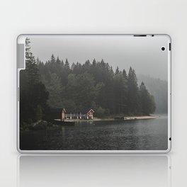 Foggy mornings at the lake II - landscape photography Laptop & iPad Skin