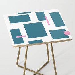 Geometric Ties Side Table