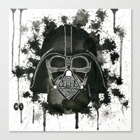 dark side Canvas Prints featuring Dark side by Gilles Bosquet
