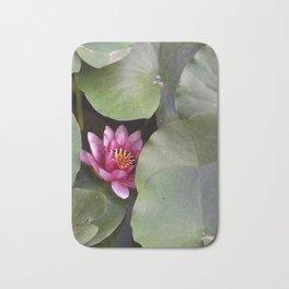 Pink Water Lilly Bath Mat