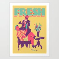 fresh prince Art Prints featuring FRESH by UCArts