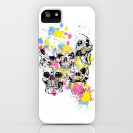 Skeleton Bone - Colored Vintage Skulls iPhone Case