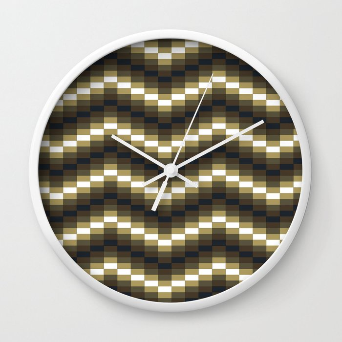 Block Wave Illustration Artwork Wall Clock