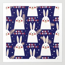 Mery Bunny Art Print