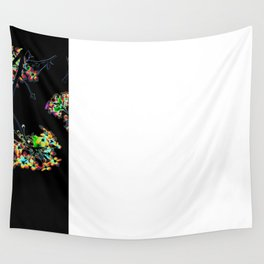 Mismatch Color Hatch Wall Tapestry