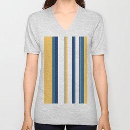 Vintage 1950s stripes Unisex V-Neck