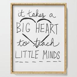 Big Heart, Little Minds Serving Tray