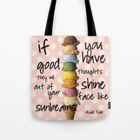 roald dahl Tote Bags featuring I scream, you scream! by courtneeeee